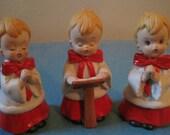Choir Boys- Three Vintage Christmas Figurines