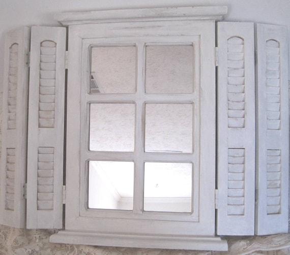 Shabby Mirror Shabby Vanity Mirror Tri-Fold Shutters
