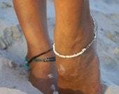 White sand anklet - white jewellery