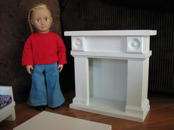"Fireplace Doll Furniture for American Girl or other 18"" doll - NOT AVAILABLE for pre-Christmas Delivery"