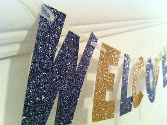 Welcome Friends Banner -- Photo Prop / Decoration / Housewarming Gift