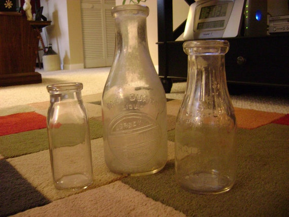 Reserved for Danese Donaldson Theisen 2 Vintage Milk Bottles from North Carolina