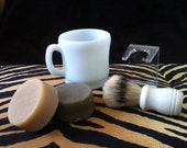 Goat Milk SHAVE Soap Gift Set with VINTAGE Anchor Hocking Shave Mug