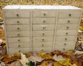 Wonderful Vintage Storage Cabinet Medium Sized 21 Drawers