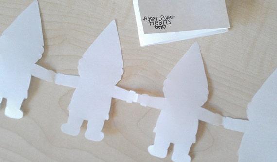Gnome Paper Garland PDF - DIY Printable Party Decorations & Fun Kids Craft