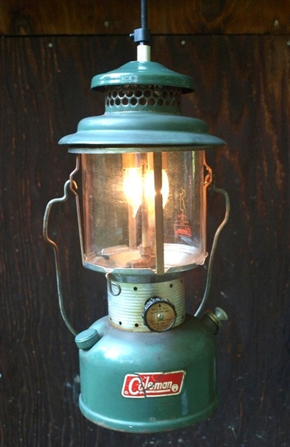 1972 Coleman Lantern Pendant Light Converted To Electric