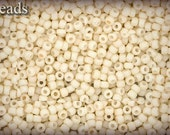 TOHO seed beads 10g size 11/0 Opaque-Pastel-Frosted Egg Shell Nr. 11-762 LAST