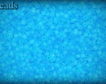 Seed beads TOHO 10g size 15/0 Transparent-Frosted Aquamarine Nr. 15-3F last
