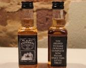 25 Custom Jack Daniels Favors Mini Bottle Decal Labels Wedding Favors Thank You Bride Groom Photo Liquor Whiskey Bachelorette Bachelor Party