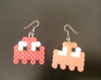 Perler NES Pacman Ghosts Earrings (2 pairs for 1)