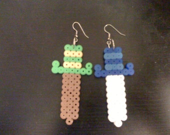 Perler NES Legend of Zelda Sword Earrings