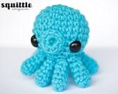 kawaii blue baby octopus amigurumi plush