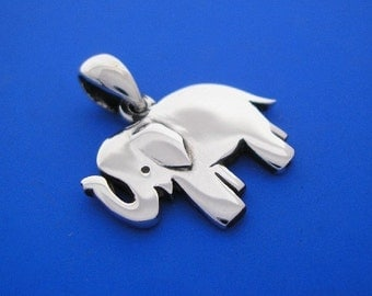 Silver Elephant Pendant , Hand Made Solid Silver , Jewelry , Jewellery
