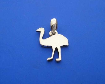 Silver Emu Pendant ,  Australian Coat of Arms , Hand Made Solid Silver