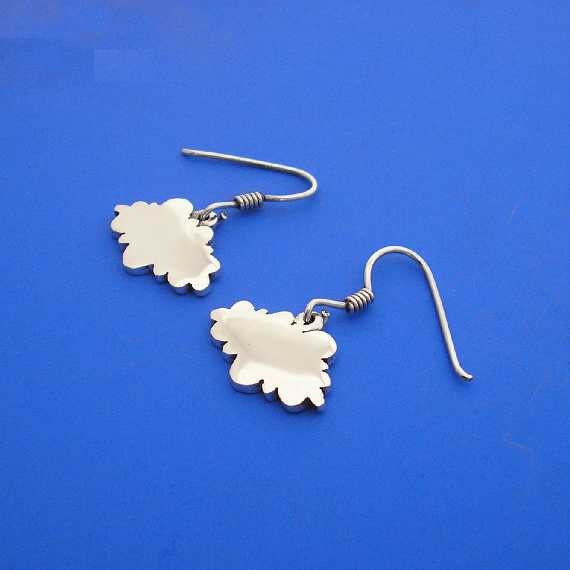 Silver Cloud Earrings , Hand Made Solid Silver , Jewellery , Jewelery