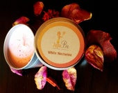 White Nectarine and Peach - Pure Soy Wax - 10oz Travel Tin Scented Candle