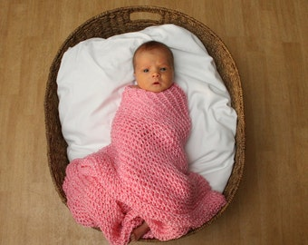Baby Blankets--Handknit and Made to Order--Multiple Colors Available