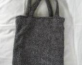 Simple Tweed Tote Bag - Retro - Vintage