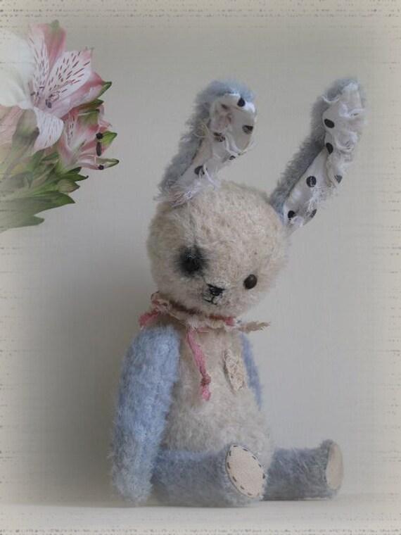 Lupine. Artist collectible bunny OOAK.