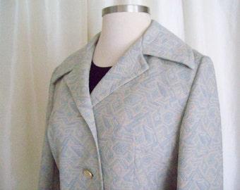 Vintage womens Spring coat,  60s Jackie O style by Printzess, ladies pastel coat, woman coat, lightweight coat