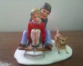 Vintage Norman Rockwell Bone China Figurine Winter