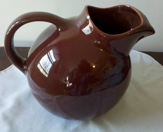 Franciscan El Patio Gladding Mcbean El Patio Ball Pitcher Redwood Vintage Mid Century Jug