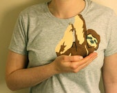 Sloth T Shirt - Womens T Shirt -  Sloth Shirt - Baby Sloth tee