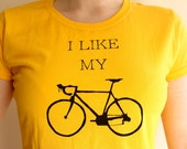 Womens Bike T Shirt - I Like My Bike - SALE!!