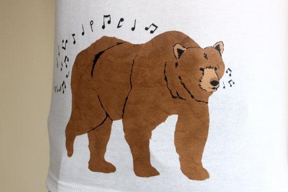 Whistling Bear T Shirt - Men's T Shirt -  Bear Shirt - Gifts for Men - SALE!!
