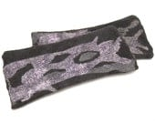 felted wrist warmers -arm warmers - spring fashion- dark grey- gft for mother
