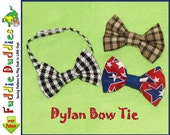 Boy's Bow Tie Pattern, Necktie Pattern. Toddlers pattern, INSTANT DOWNLOAD. Boy's PDF Pattern with 2 adjustable neck strap options.
