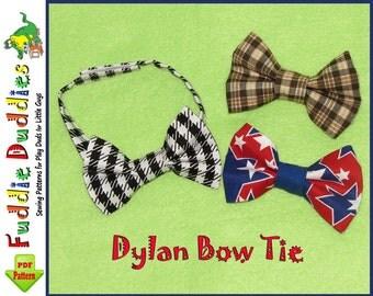 Boy's Bow Tie Pattern, Necktie Pattern. Toddlers pattern, INSTANT DOWNLOAD. Boy's PDF Pattern with 2 adjustable neck strap options.
