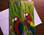 SOLD - Hand painted greeting card