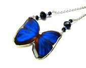 Blue Butterfly Resin Pendant