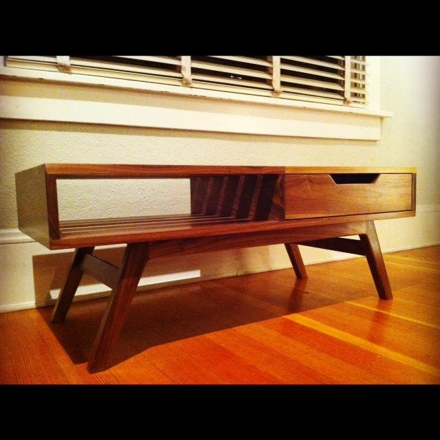 The Slatted Coffee Table // Mid Century Modern // American