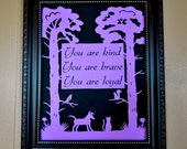 Nursery Wall Art  Dog Cat  Personalized Papercut