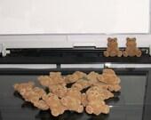 """50 Tiny Flocked Teddies: 1"""""""