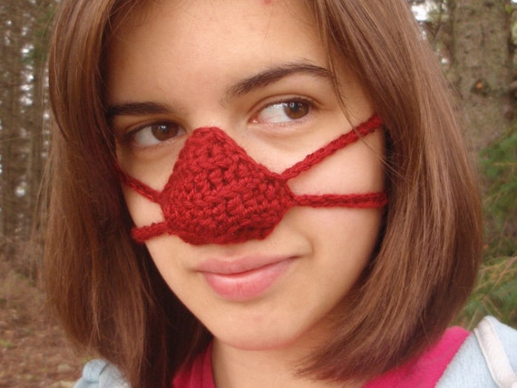Knitted Nose Warmer Pattern : Crocheted Nose Warmers