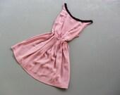 LacyLoveFloral - Light Purple Sundress Black Lacy Floral Romantic Simply Dress
