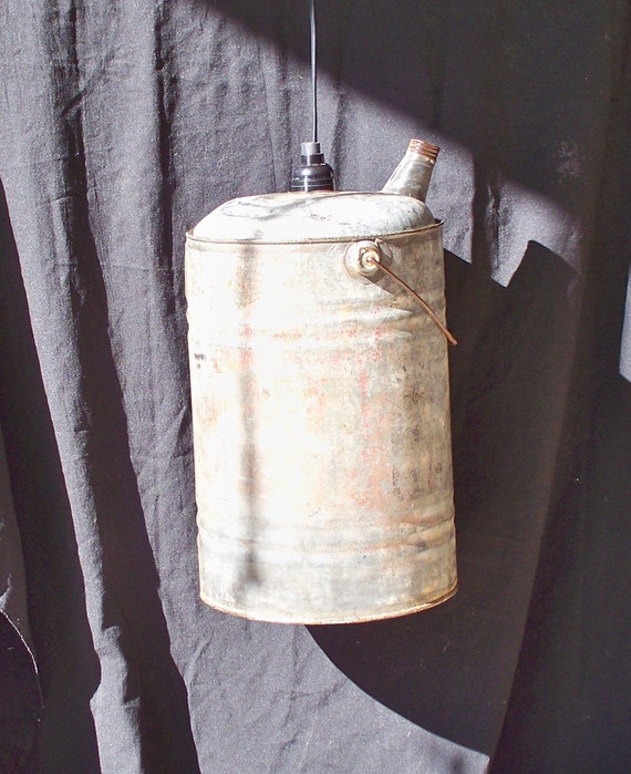 Vintage And Industrial Lighting From Etsy: Items Similar To Antique Gas Can Light, Re-purposed