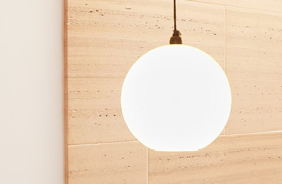 White Globe, modern lighting, white light, up-cycled, re-purposed lighting, unique glow, soft light, moon