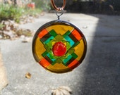 Stained Glass Tiny Patchwork Ornament