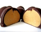 Peanut Butter Balls Dipped in Chocolate aka Buckeyes, Gluten Free Candy - 1 dozen, Holiday Gift, Party Favor
