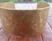 Brass Cuff Bracelet Hammered