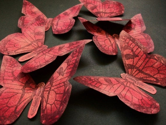 Handmade Paper Butterflies Set of 6