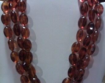 Vintage Amber Brown Color 3 strand