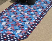 Fourth of July Patriotic Table Runner