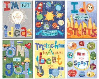 What a guy - Inspirational wall cards for boys