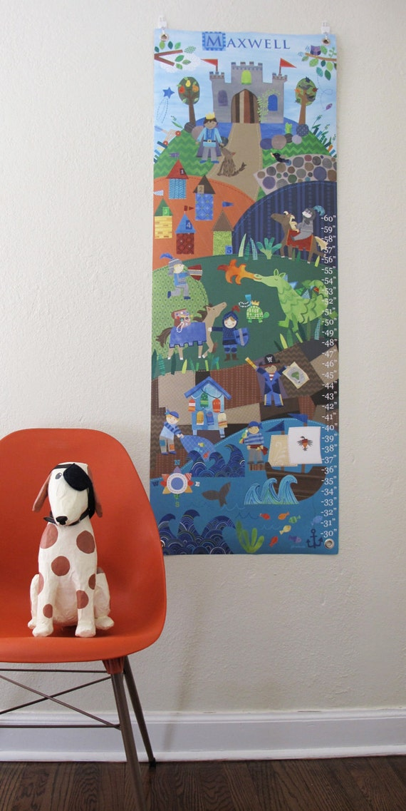 A Knight tale - Personalized Canvas growth chart