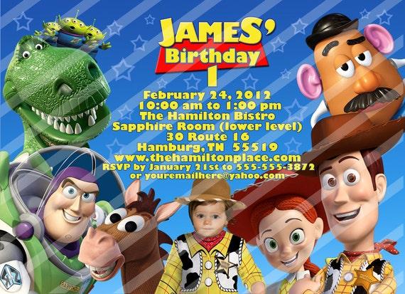 Toy Story Stars PERSONALIZED birthday invitation, add a photo, you print, digital file